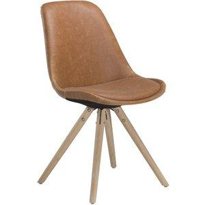 Orso stol - Ljusbrun konstläder