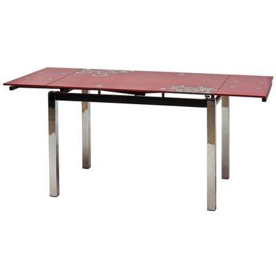 Matbord Cameron 110-170 cm - Röd/krom