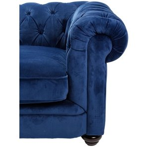 Chesterfield Sir Nelson XL 362 cm - Royal Blue sammet