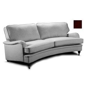 Howard Luxor svängd 4-sits soffa - Brun