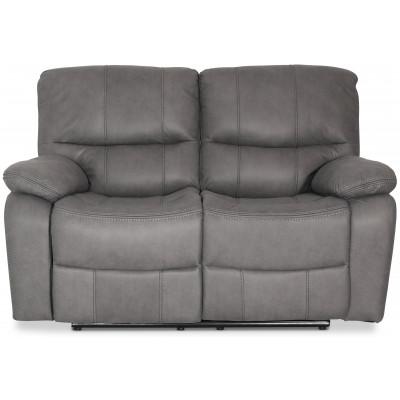 Manhattan recliner soffa 2-sits - Grå PU