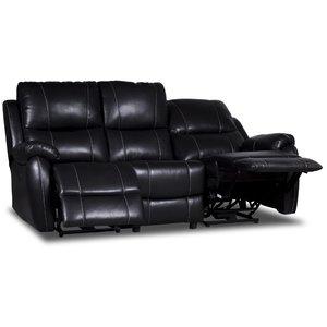 Enjoy Chicago reclinersoffa - 3-sits (el) i svart konstläder