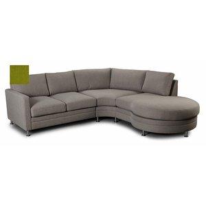 Modern Living soffa - Hörnsoffa med rund divandel höger - Limegrön