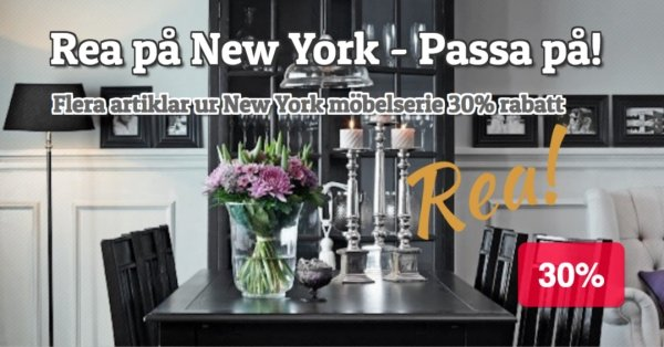 New York Möbelserie 30% rabatt - Passa på!