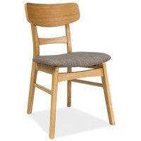 Alejandra stol - Grå/ek