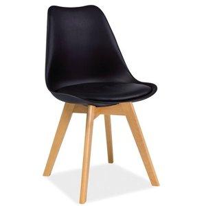 Jeremiah stol - Svart/bok