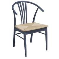Casper stol - Grå / Flätad sits