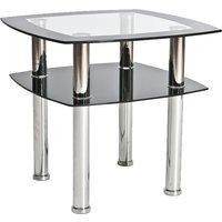 Soffbord Kaitlin - Krom/svart