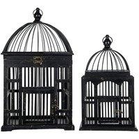 Fågelbur Pippi set om 2 st - Vintage svart