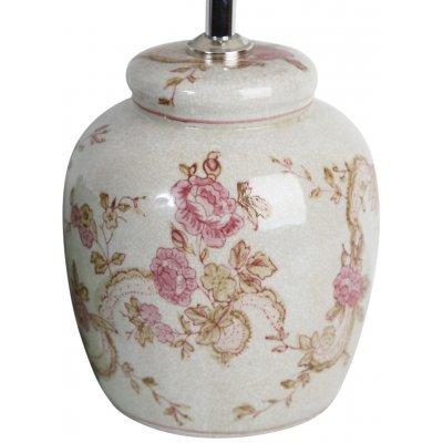 Kina lampfot H18 cm - Rosa dekor