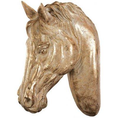 Väggdekoration Häst - Creme/guld