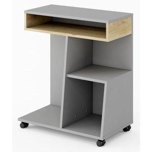 Terrell skrivbord - Bok/ljusgrå