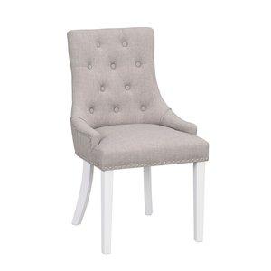 Verity stol - Ljusgrå/vit