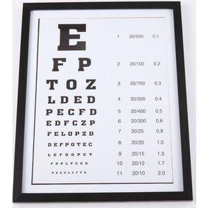 Tavla Optiker - Svart ram & 179.00
