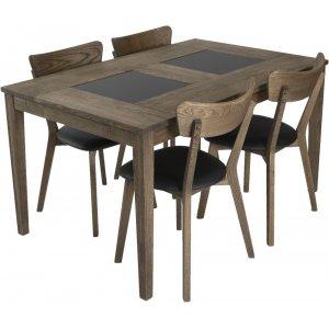 Habo matgrupp inkl. 4 st Ekeby stolar - Ek/granit