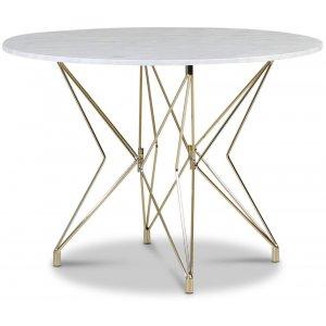 Zoo matbord Ø105 cm - Mässing / Ljus marmor