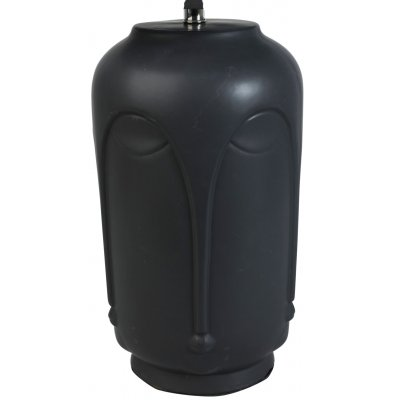 Bordslampa ansikte H43 cm - Svart