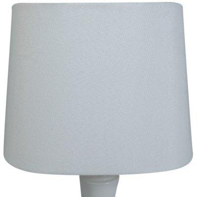 Oval lampskärm 27x18 cm - Vit (grovt linne)