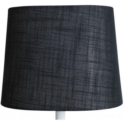 Oval lampskärm 27x18 cm - Svart (grovt linne)