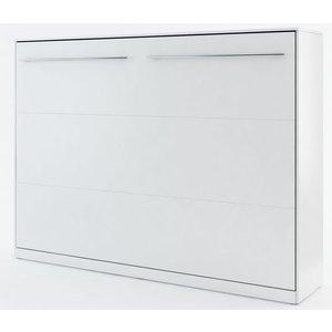 Sängskåp compact living Horisontellt (140x200 cm fällbar säng) - Vit (Matt)