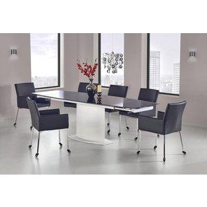 Leslie matbord 160-250 cm - Vit/svart