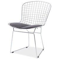 Carolina stol - Svart/krom