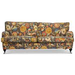 Savoy 3-sits soffa med blommigt tyg - Havanna Brun