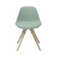 Woody Junior matstol - Vit / ljusgrön