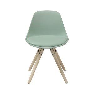 Woody Junior matstol - Ljus ek / ljusgrön