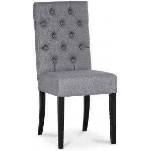 Lexington Milton stol - Ljusgrå (Tyg) / Svarta ben