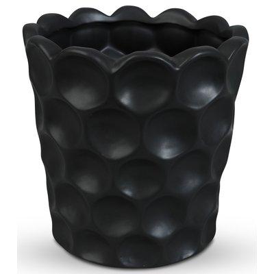 Kruka Cavity H26 cm - Svart