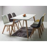 Matbord Linköping 160 cm - Vit