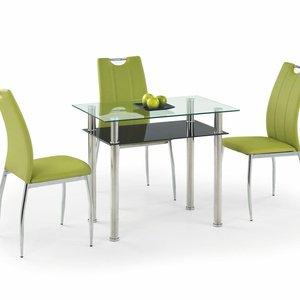 Hörvik matbord 90 cm - Svart/metall