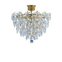 Rosendal Kristallplafond 4 - Guld/Kristall