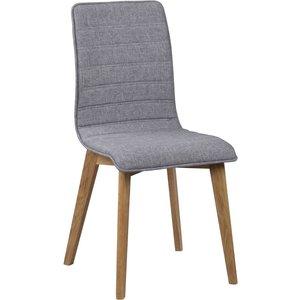 Aniyah stol - Ljusgrå/ek