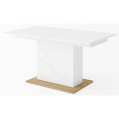 Dayna matbord 160-200 cm - Vit/riviera ek