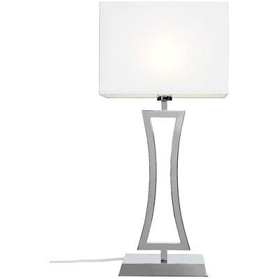 Belgravia Xl bordslampa - Krom/vit