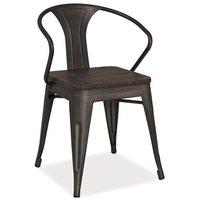 Adalyn stol - Valnöt/metall