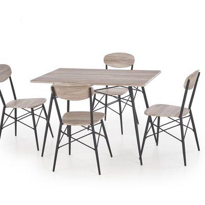 Arne fikabord med 4 stolar - Svart/sanremo ek