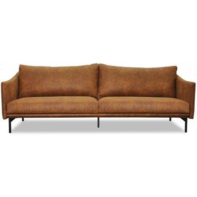 Harpan 3-sits soffa - Cognac Ecoläder