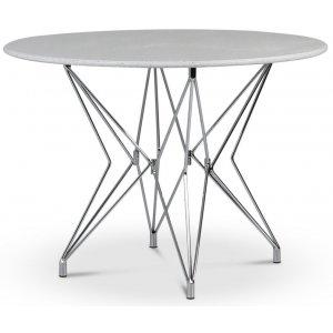 Zoo matbord Ø105 cm - Krom / Terrazzo Bianco
