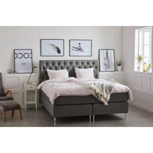 Dream komplett sängpaket med gavel 7-zons kontinentalsäng - Grå