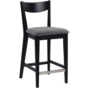 Kinley barstol - Svartbetsad ek/ljusgrå