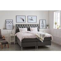 Dream lyxig sängpaket 7-zons kontinentalsäng inklusive sänggavel - Grå