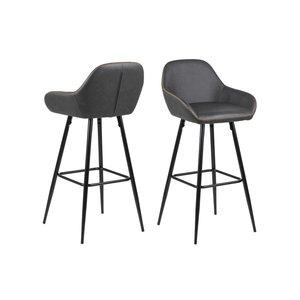 Jersey barstol - Duvgrå