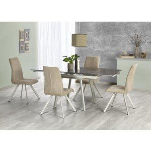 Catrine matbord 120-180 cm - Khaki/ljusbeige