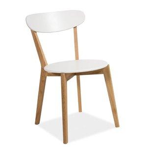Linköping matstol - Vit/Ek
