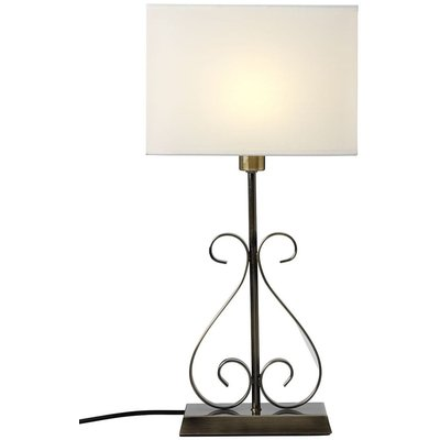 Nacka V.O. bordslampa - Antik/vit