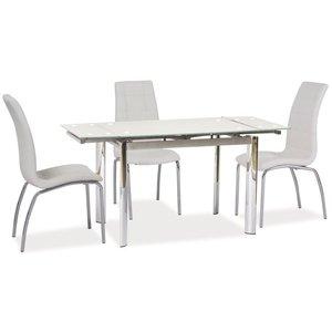 Caylee matbord - Vit/metall