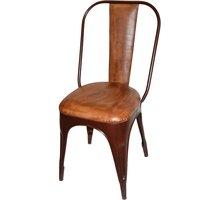 Stol Toxil- Vintage rostfärgad/läder